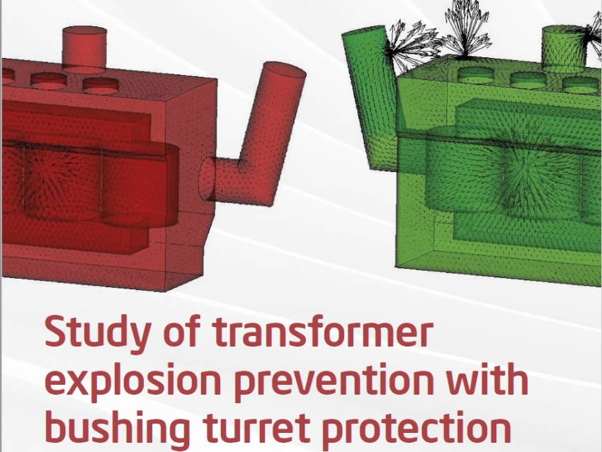 Study of Transformer Explosion Prevention with Bushing Turret Protection